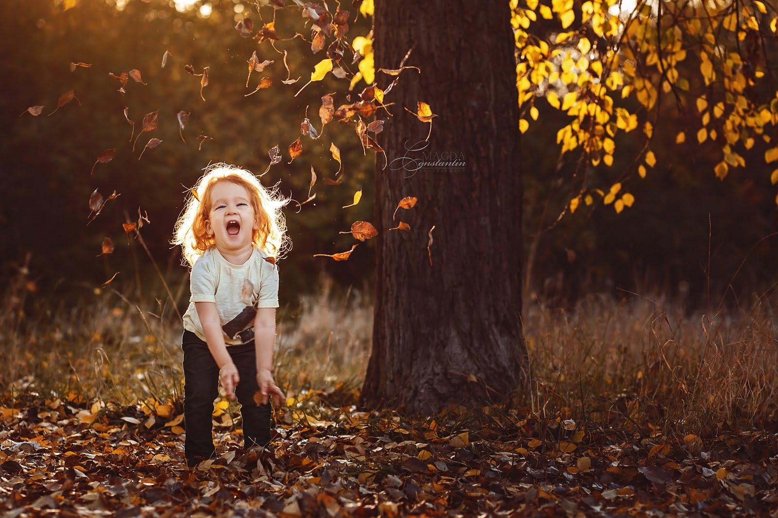 Sedinta foto copil Bucuresti natura toamna