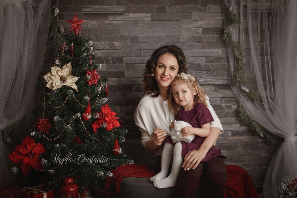 sedinta foto de craciun in bucuresti, portret de familie