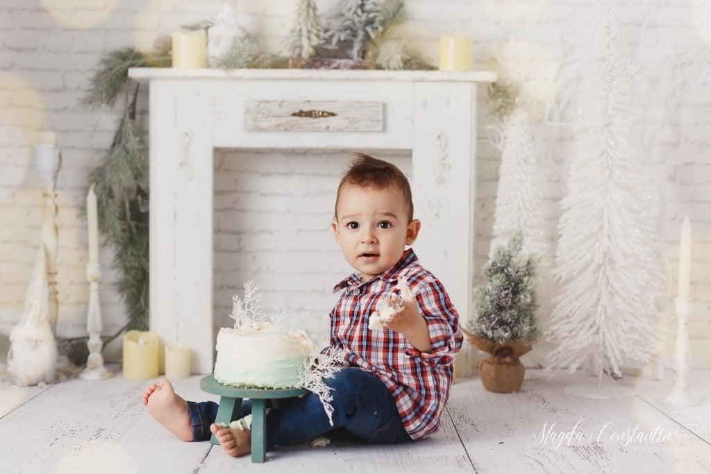 Sedinta foto smash the cake in studio